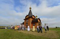 Редкий деревянный храм-часовню освятили в Жирятинском районе