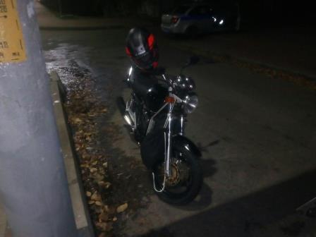 На проспекте Ленина в Брянске опрокинулся мотоцикл