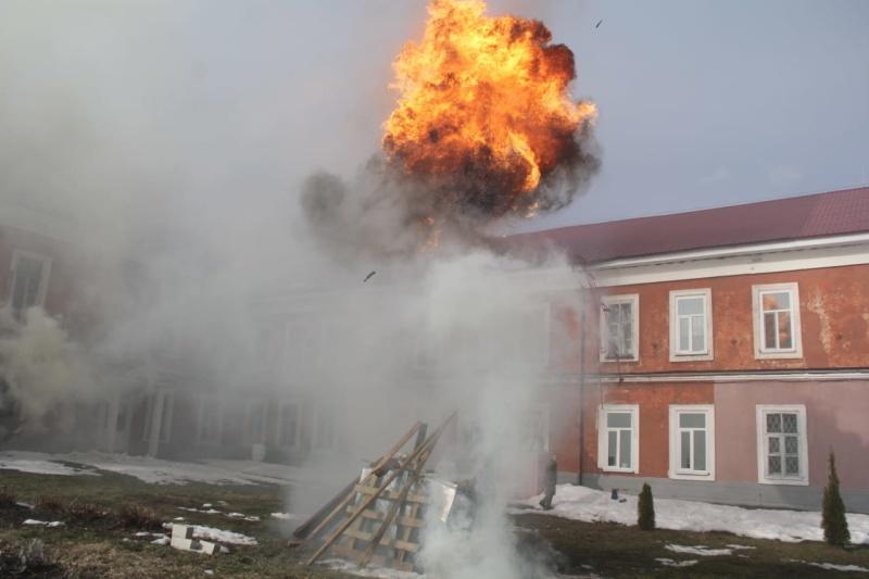 В педколледже Новозыбкова «тушили» пожар и загоревшуюся одежду